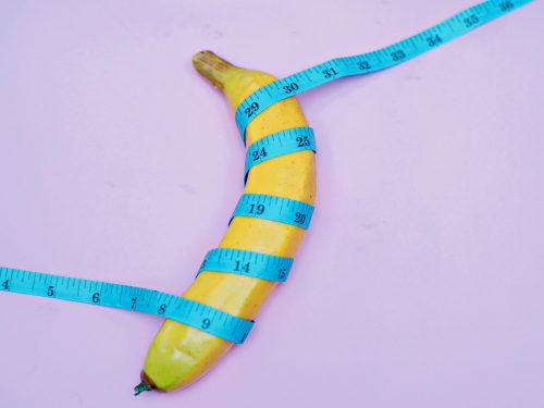yellow and blue striped banana